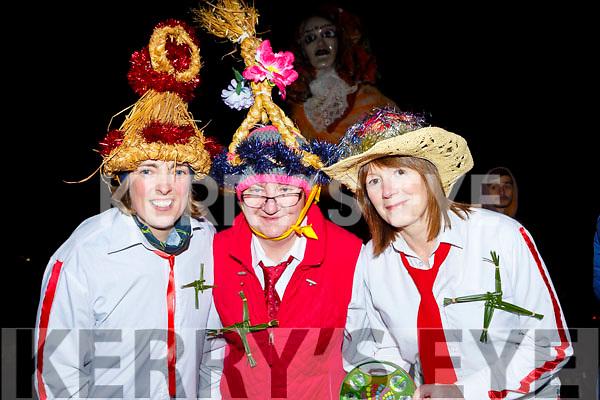 The Glencar biddy group at the Biddy festival in Killorglin Saturday night front row, Collette Lawlor, Bridget Cronin, Kate O'Connor