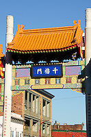The Millennium Gate to Chinatown in Vancouver, British Columbia, Canada