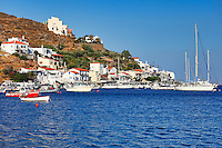 Vourkari is a seaside, traditional village with a picturesque harbor in Kea, Greece