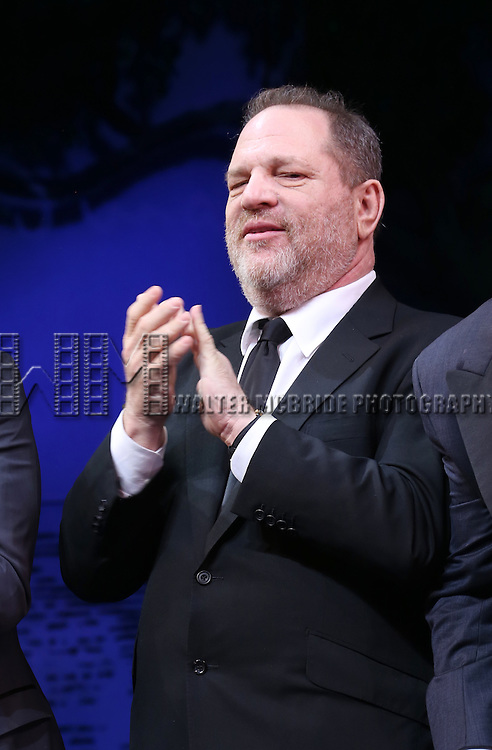 Harvey Weinstein during the Broadway Opening Night Performance curtain call for  'Finding Neverland'  at The Lunt-Fontanne  Theatre on April 15, 2015 in New York City.