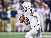 College Park, MD - NOV 25, 2017: Penn State Nittany Lions quarterback Trace McSorley (9) runs the football during game between Maryland and Penn State at Capital One Field at Maryland Stadium in College Park, MD. (Photo by Phil Peters/Media Images International)