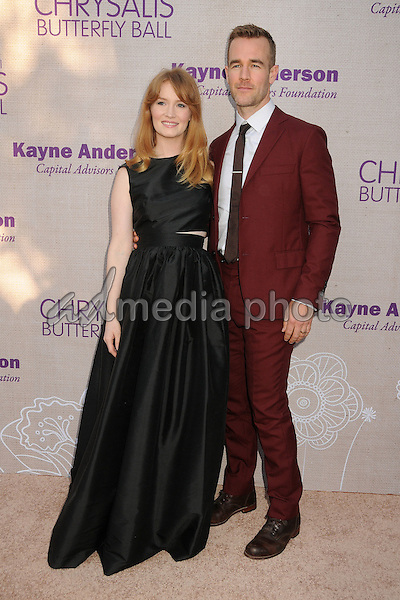 6 June 2015 - Los Angeles, California - Kimberly Brook, James Van Der Beek. 14th Annual Chrysalis Butterfly Ball held at a Private Residence. Photo Credit: Byron Purvis/AdMedia