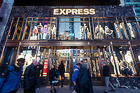 A spanking brand new Express clothing store in Times Square in New York on Tuesday, March 18, 2013.  (© Richard B. Levine)