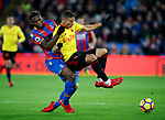Crystal Palace's Timothy Fosu-Mensah tussles with Watford's Richarlison during the premier league match at Selhurst Park Stadium, London. Picture date 12th December 2017. Picture credit should read: David Klein/Sportimage