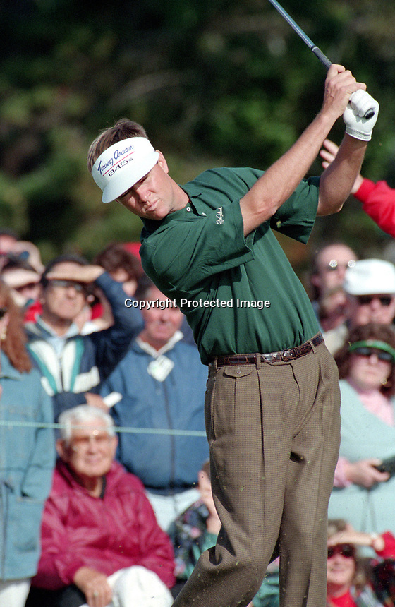 Davis Love III at Pebble Beach AT&T golf. (1995 photo/Ron Riesterer)