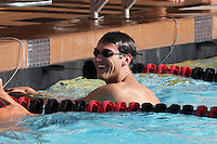 13 October 2007: Former students compete in the alumni swim meet at Avery Aquatic Center in Stanford, CA.