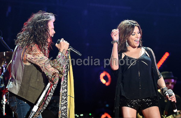 11 June 2016 - Nashville, Tennessee - Steven Tyler, Aerosmith and Martina McBride. 2016 CMA Music Festival Nightly Concert held at Nissan Stadium. Photo Credit: Laura Farr/AdMedia