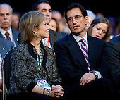 United States House Majority Leader Eric Cantor (Republican of Virginia) and his wife Diana, wait for U.S. President Barack Obama speak to the American Israel Public Affairs Committee (AIPAC) on Sunday, May 22, 2011 in Washington, DC. President Obama spoke to AIPAC reaffirming U.S. support for Israel and calling for Israelis and Palestinians to seek a two-state solution.  .Credit: Joshua Roberts / Pool via CNP