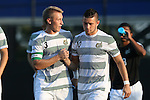21 August 2015: Charlotte's David Mayer (ENG) (3) and Brandt Bronico (10). The Duke University Blue Devils hosted the University of North Carolina Charlotte 49ers at Koskinen Stadium in Durham, NC in a 2015 NCAA Division I Men's Soccer preseason exhibition. The game ended in a 1-1 tie.