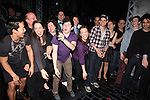 Andy Richardson, Kara Lindsay, Jeremy Jordan & Company.attending the Actors' Equity Broadway Opening Night Gypsy Robe Ceremony for Aaron J. Albano in.'Newsies - The Musical' at the Nederlander Theatre in NewYork City on 3/29/2012