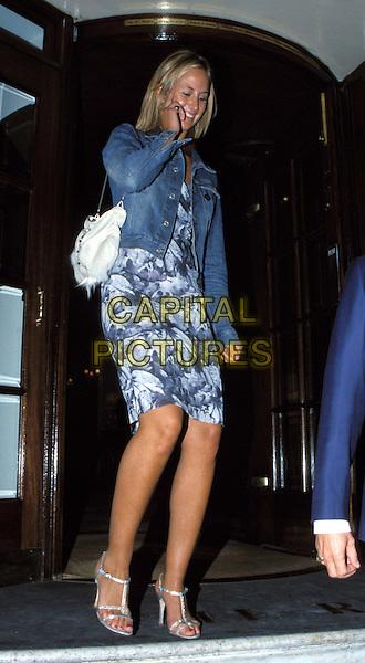 LADY VICTORIA HERVEY..Ref: 10872..denim, silver sandals..www.capitalpictures.com..sales@capitalpictures.com..©Capital Pictures..full length, full-length