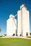 Concrete grain elevator, Oklahoma.