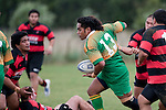 Nau Tapui breaks through the first line of Papakura defenders. Counties Manukau Premier Club Rugby Game of the Week between Drury & Papakura, played at Drury Domain on Saturday Aprill 11th, 2009..Drury won 35 - 3 after leading 15 - 5 at halftime.
