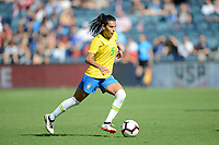 Kansas City, KS- Thursday July 26, 2018: 2018 Tournament of Nations match between the women's national teams of Australia (AUS) and Brazil (BRA) at the Children's Mercy Park.