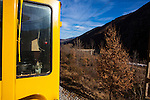 The Train Jaune, Yellow Train, Canari, or Ligne de Cerdagne, is a 63km long railway from Villefranche-de-Conflent to Latour-de-Carol, rising from 427m to 1,593m at Bolquère-Eyne, the highest railway station in France. In early 2015 the future of the line was uncertain, with SNCF and the French government considering either to close the line, or to privatise it for tourism use.