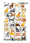 Kate, GIFT WRAPS, GESCHENKPAPIER, PAPEL DE REGALO, paintings+++++Jigsaw cats,GBKM330,#gp#, EVERYDAY ,sticker,stickers