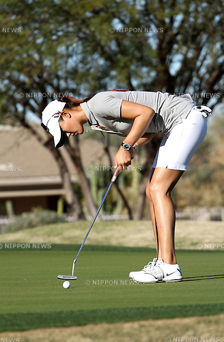 Michelle Wie (USA),.MARCH 14, 2013 - Golf :.Michelle Wie of the United States putts during the first round of the RR Donnelley LPGA Founders Cup at Wildfire Golf Club in Phoenix, Arizona, United States. (Photo by Yasuhiro JJ Tanabe/AFLO)