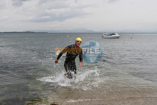 "Fear Erazmus 3rd Place at the Clogherhead ""Round the Head Swim""....(Photo credit should read Jenny Matthews/NEWSFILE)..."