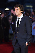 London, UK. 22 March 2016. Actor Jesse Eisenberg (Lex Luther). Warner Bros. Pictures presents the European Premiere of Batman v Superman, Dawn of Justice. The movie, directed by Zack Snyder, stars Ben Affleck as Batman/Bruce Wayne and Henry Cavill as Superman/Clark Kent in the characters' first big-screen pairing. The movie opens in cinemas on 25 March 2016. © Vibrant Pictures/Alamy Live News