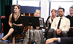 Laura Michelle Kelly, Harriet Harris, Kathy Fitzgerald, Will Swenson and AJ Shively during the Rehearsal of the  Barrington Stage Company production of 'The Royal Family of Broadway', the new musical by William Finn and Rachel Sheinken, at Ripley Grier Studios on May 11, 2018 in New York City.
