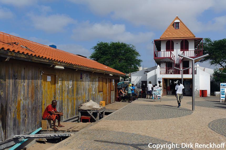 ehemaliges Wiegehaus für Salz, Ponton in Santa Maria, Sal, Kapverden, Afrika