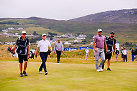 Russell Knox (SCO), Ryan Fox (NZL) during the first playoff hole during the final round of the Dubai Duty Free Irish Open, Ballyliffin Golf Club, Ballyliffin, Co Donegal, Ireland. 08/07/2018<br /> Picture: Golffile | Thos Caffrey<br /> <br /> <br /> All photo usage must carry mandatory copyright credit (&copy; Golffile | Thos Caffrey)