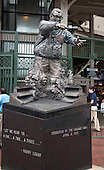 Statue honoring Chicago Cubs' great broadcaster Harry Caray outside Wrigley Field in Chicago, Illinois on Thursday, August 22, 2013.<br /> Credit: Ron Sachs / CNP