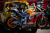 June 10th 2017,  Barcelona Circuit, Montmelo, Catalunya, Spain; MotoGP Grand Prix of Catalunya, qualifying day; Daniel Pedrosa motorbike of Repsol Honda Team after his crash