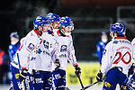Uppsala 2013-11-20 Bandy Elitserien IK Sirius - Edsbyns IF :  <br /> Edsbyn Mattias Hammarstr&ouml;m gratuleras av Edsbyn Daniel Liwocjh Edsbyn Simon Jansson efter sitt 6-1 m&aring;l<br /> (Foto: Kenta J&ouml;nsson) Nyckelord:  jubel gl&auml;dje lycka glad happy