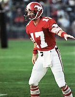 Mike Levenseller Calgary Stampeders 1983. Photo Scott Grant