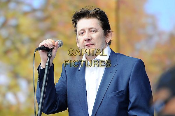 LONDON, ENGLAND - JULY 5: Shane MacGowan of 'The Pogues' performs live at British Summertime, Hyde Park on July 5, 2014 in London, England.<br /> CAP/MAR<br /> &copy; Martin Harris/Capital Pictures