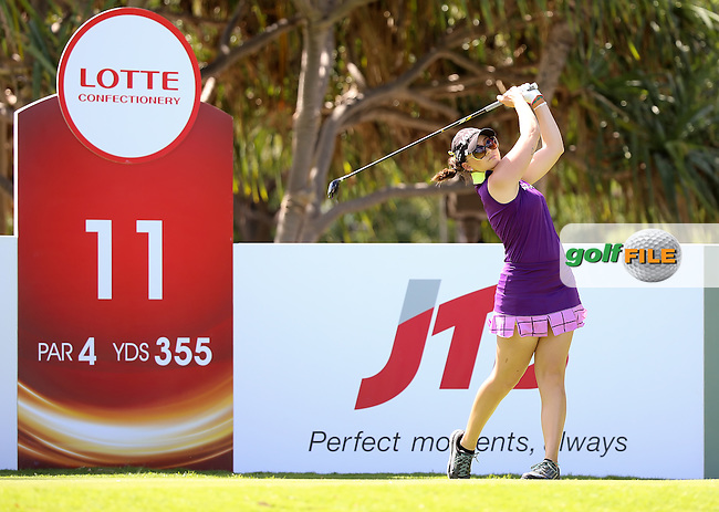 16 APR15  Victoria Elizabeth during Thursdays Second Round of The LOTTE Championship at The Ko Olina Golf Club in Kapolei, Hawaii. (photo credit : kenneth e. dennis/kendennisphoto.com)