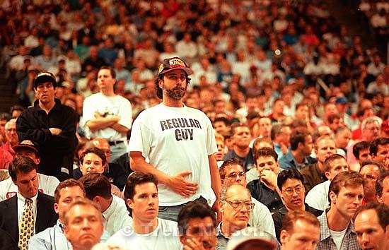 &quot;Regular Guy&quot; t-shirt at Utah vs Stanford, NCAA Tournament.<br />