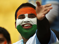 An Indian fan during 2nd Twenty20 cricket match match between New Zealand Black Caps and West Indies at Westpac Stadium, Wellington, New Zealand on Friday, 27 February 2009. Photo: Dave Lintott / lintottphoto.co.nz