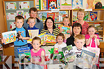 PLAY TIME: Parents and children from Brosna National School who took part in a Story Sacks project in the school on Friday last..Front L/r. Aisling Brosnan, Erika Cronin, Jimmy Kelly..Second row L/r. Egan Brosnan, Joseph Brosnan, Kathy Cronin, Margaret Kelly, Deirdre Guiney..Back L/r. Sean Brosnan, Lenora Kelly and Helen Guiney. .