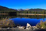 Echo Lake in autumn along the road to mount evans in the colorado rockies, USA