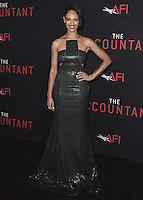 """HOLLYWOOD, CA - OCTOBER 10:  Cynthia Addai-Robinson at the Los Angeles world premiere of """"The Accountant"""" at TCL Chinese Theater on October 10, 2016 in Hollywood, California. Credit: mpi991/MediaPunch"""