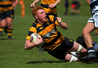 Tom Florence in action during the rugby match between Taranaki and Auckland Development in the Jack Hobbs Memorial Under-19 Rugby Tournament at Owen Delaney Park in Taupo, New Zealand on Wednesday, 13 September 2012. Photo: Dave Lintott / lintottphoto.co.nz