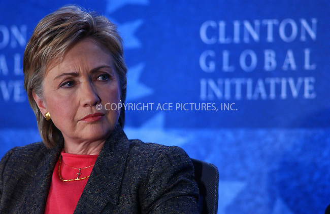 WWW.ACEPIXS.COM . . . . . ....September 22, 2006, New York City. ....Hilary Clinton attends the Clinton Global Initiative Annual Meeting Day 2.....Please byline: KRISTIN CALLAHAN - ACEPIXS.COM.. . . . . . ..Ace Pictures, Inc:  ..(212) 243-8787 or (646) 769 0430..e-mail: info@acepixs.com..web: http://www.acepixs.com