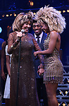 """Tina Turner, Daniel J. Watts and Adrienne Warren during the """"Tina - The Tina Turner Musical"""" Opening Night Curtain Call at the Lunt-Fontanne Theatre on November 07, 2019 in New York City."""