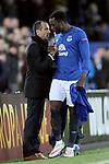 Roberto Martinez manager of Everton thanks Romelu Lukaku of Everton - UEFA Europa League Round of 32 Second Leg - Everton vs Young Boys - Goodison Park Stadium - Liverpool - England - 26th February 2015 - Picture Simon Bellis/Sportimage