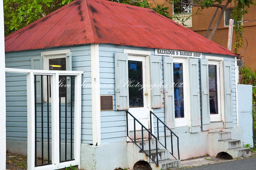 Salvador's Barber Shop.Christiansted, St Croix.US Virgin Islands