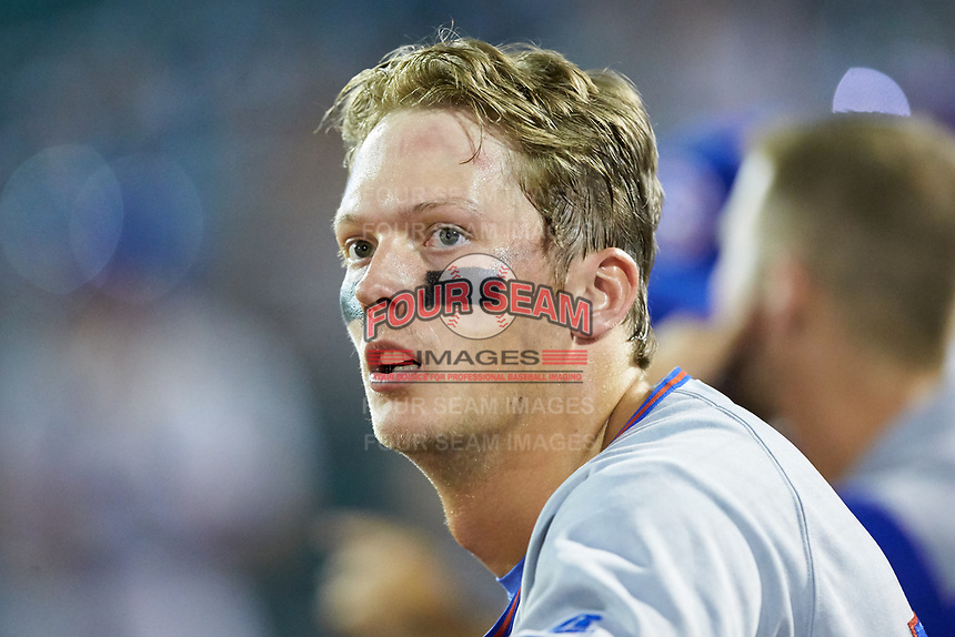 Chris Carrier (13) of the South Bend Cubs during the game against the Lansing Lugnuts at Cooley Law School Stadium on June 15, 2018 in Lansing, Michigan. The Lugnuts defeated the Cubs 6-4.  (Brian Westerholt/Four Seam Images)