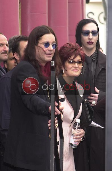 Ozzy Osbourne, Sharon Osbourne and Marilyn Manson