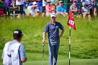 Webb Simpson (USA) smiles at his caddie before he putts on 6 during Saturday's round 3 of the 117th U.S. Open, at Erin Hills, Erin, Wisconsin. 6/17/2017.<br /> Picture: Golffile | Ken Murray<br /> <br /> <br /> All photo usage must carry mandatory copyright credit (&copy; Golffile | Ken Murray)