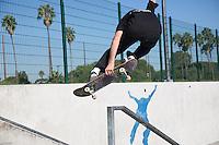 Skating at Alondra Skatepark in Gardena