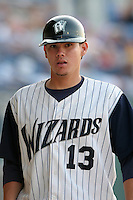 Fort Wayne Wizards Jose Lobaton during a Midwest League game at Memorial Stadium on July 17, 2006 in Fort Wayne, Indiana.  (Mike Janes/Four Seam Images)