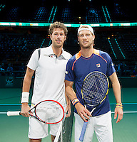 Februari 11, 2015, Netherlands, Rotterdam, Ahoy, ABN AMRO World Tennis Tournament, Robin Haase (NED) -Andreas Seppi (ITA)<br /> Photo: Tennisimages/Henk Koster