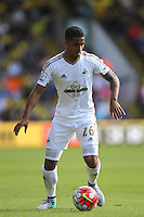 Kyle Naughton of Swansea   during the Barclays Premier League match Watford and Swansea   played at Vicarage Road Stadium , Watford