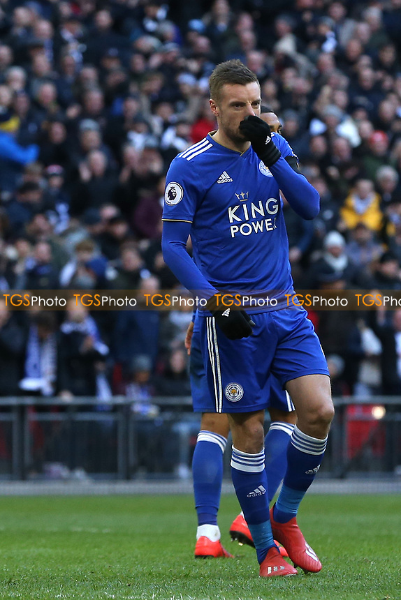 /l9. after missing a penalty during Tottenham Hotspur vs Leicester City, Premier League Football at Wembley Stadium on 10th February 2019